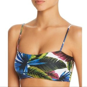 NWT L*Space Rebel Tropical Print Bikini Top
